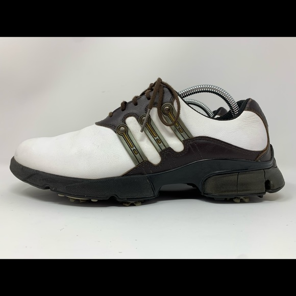 Adidas Golf Shoes Men's Size 9 White And Brown